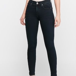 Mid Rise Supersoft Dark Wash Ankle Skinny Jeans